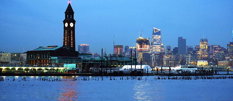 hoboken skyline at night